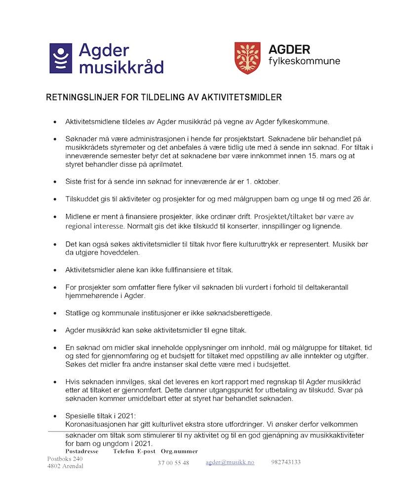 AKTMID retningslinjer revidert forslag 2021 mars