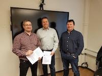 Signering av partnerskapsavtale mellom Vadsø musikkråd og Vadsø kommune.