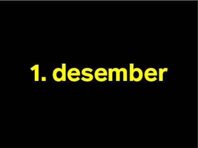 1 desember