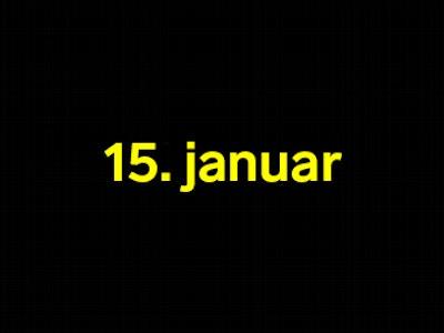 15 januar