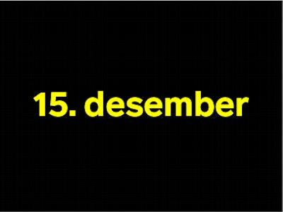 15 desember
