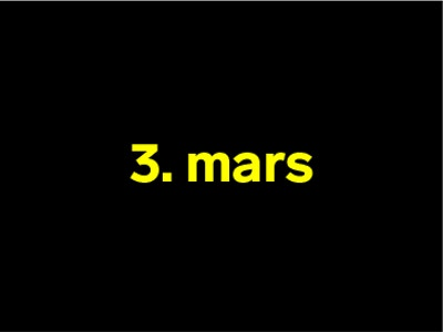 3 mars
