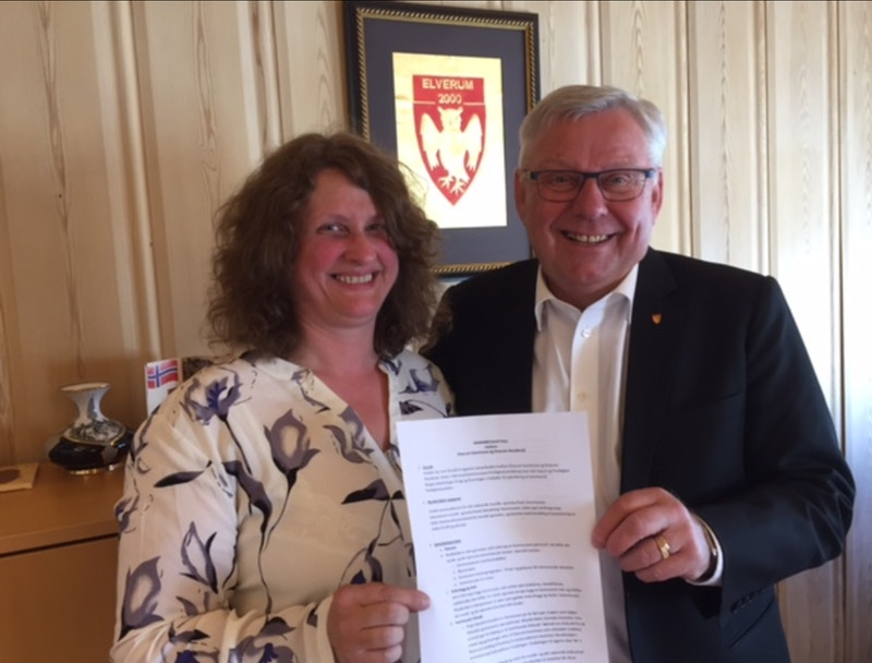 Elverum musikkrad signering av samarbeidsavtale