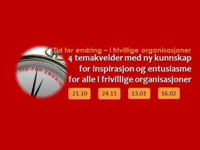 Tid for endring kursbilde