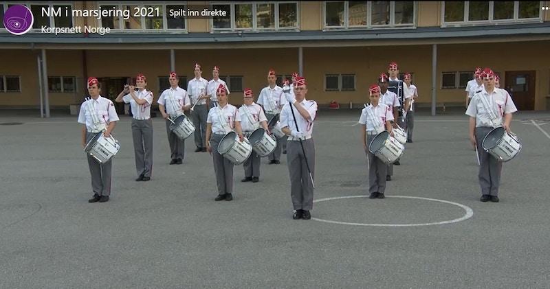 Huseby skoles musikkorps signalkorpset