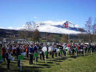 Korpsstevne Vang i Valdres foto Morten Stensby avisa Valdres