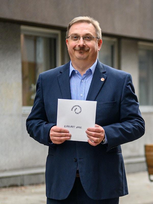 Morten Skaarer styrelder Korpsnett Norge foto Fartein Rudjord