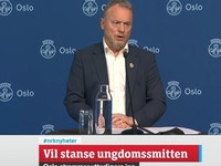 Raymond Johansen skjermdump NRK nyheter