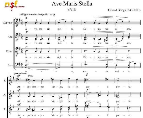 Grieg ave maris stella
