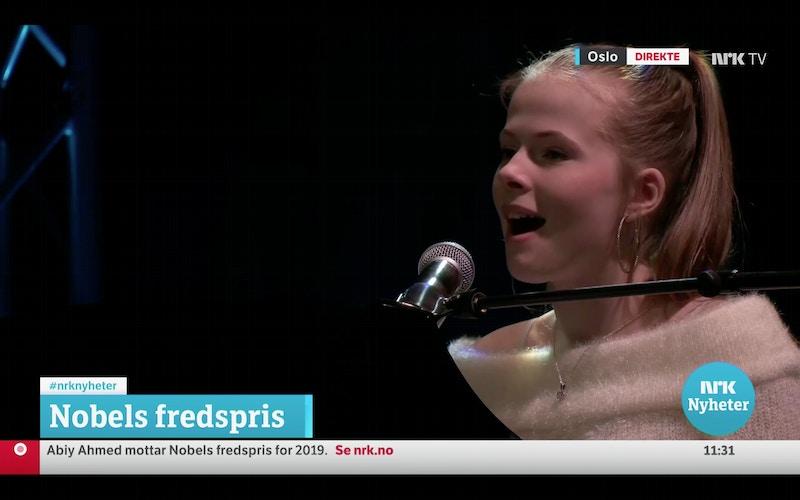 Vilja UKM på NRK Fredspriskonsert