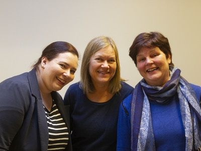 TKN-damene Camilla, Kari og Heidi