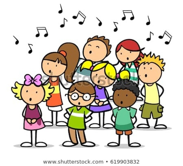 Cartoon Choir Children Singing Song 450W 619903832